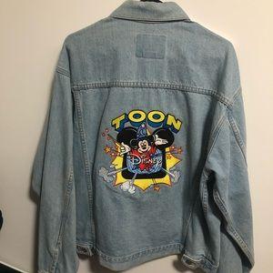 Vintage 90s Disney Embroidered Denim Jacket